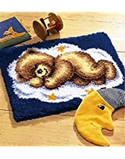 DIY Shaggy Latch Hook Kit Rug for Beginner Color Model Animal Pattern Handmade Craft Festival Gift Home Decoration