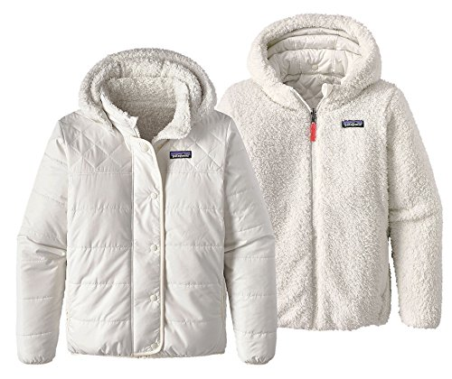 Patagonia Girls' Dream Song Hooded Reversible Jacket (XL, Birch White) by Patagonia