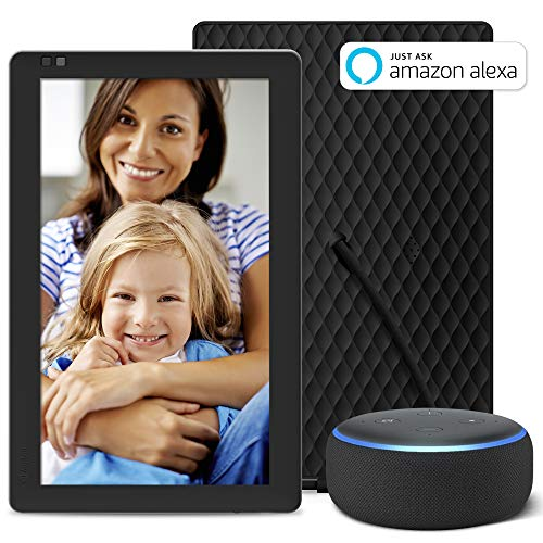 "Echo Dot (3rd Gen) Bundle with Nixplay Seed 10.1"" Smart Photo Frame"