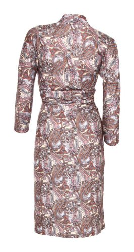 My Evening Dress - Vestido - envolvente - Básico - manga 3/4 - para mujer Apricot/Brown Print