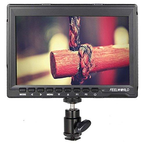 カメラアクセサリー カメラアクセサリーFW-759 7インチスリムデザイン1280 x 800カメラフィールドモニターHDMI 1080P   B07QC78Z97