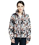 Rokka&Rolla Women's Lightweight Water Resistant Casual Active Sports Hooded Windbreaker Rain Jacket