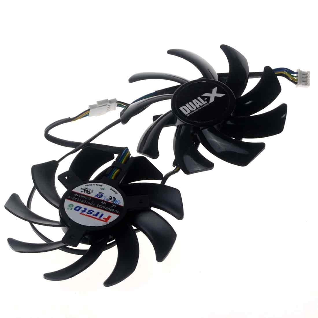 FDC10H12S9-C 85mm DC12V 0.35A 4Pin Replacement Graphics Video Card PC Cooling Dual Fan by Allpartz (Image #5)