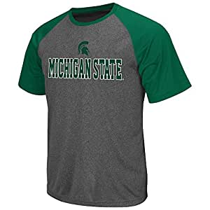 Mens NCAA Michigan State Spartans Short Sleeve Tee Shirt (Heather Charcoal) - L