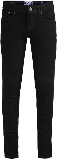 Jack /& Jones Boys Skinny Jeans Black Denim 9//10 Years 140