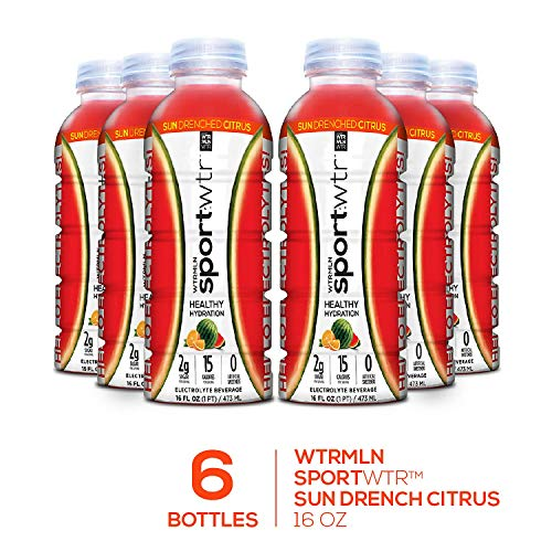 WTRMLN WTR SportWTR, Sun Drenched Citrus, 16 Ounce Bottle (Pack of 6)