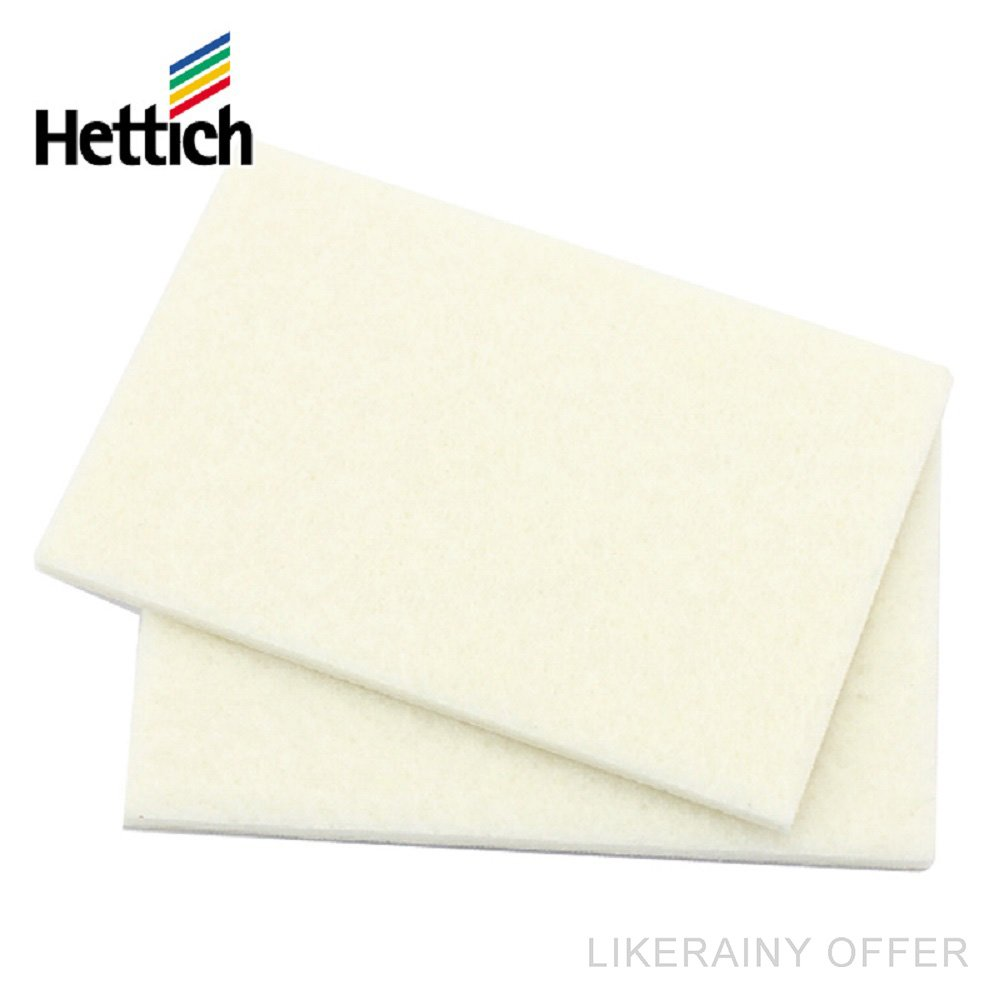(4 x 2 Pcs) Hettich Premium Furniture Felt Sheets 49121, Felt Cut Self-adhesive DIY Sticker for Protection of Hard Floors Chair Glide, Non Slip Noise Dampening Buffer Pads, 90x60mm, Germany Brand