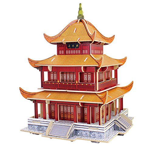 Assembly DIY Education Toy 3D Wooden Model Puzzles Architecture Yueyang Tower Puzzles & Geduldspiele
