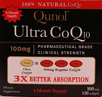 Qunol Ultra CoQ10 - 100% Soluble 100mg Softgels