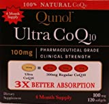 Qunol Ultra CoQ10 – 100% Soluble 100mg – 120 Softgels by Qunol, 2 pack