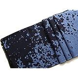 Echarpe flanelle de 100% soie/silk. Couleur marine et bleu foncé. 180cm X 32cm.
