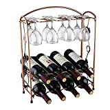 Wine Rack with Glass Holder Stainless Steel Tabletop Wine Glass Drying Folding Rack