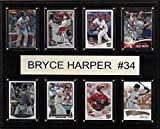 MLB Washington Nationals Bryce Harper 8-Card Plaque, 12 x 15-Inch, Brown