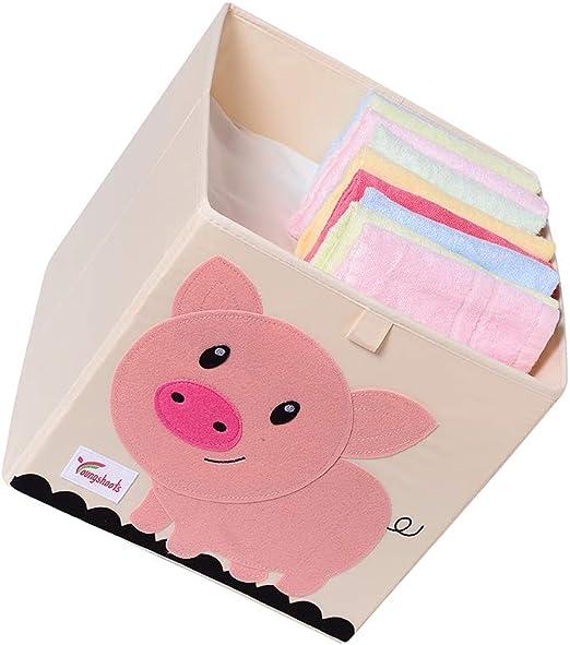 lxfy Plegado Niños Juguetes Caja de almacenaje Animal Caja No ...
