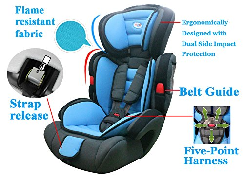 Mcc Blue 3in1 Convertible Baby Child Car Safety Booster Seat