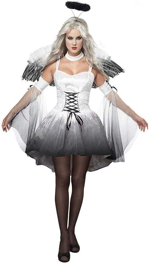 Azly-Cloth Uniforme de Juego de Vampiros en Blanco y Negro, con ...