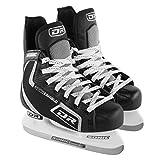 DR Sports 113 Men's Hockey Skate Black/Silver, Size 12