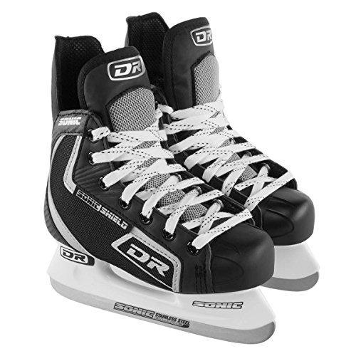 DR Sports 113 Men's Hockey Skate Black/Silver, Size 10 by Dr Dry