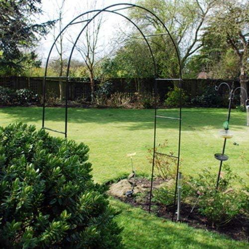 Metal Acero Jardín Rosa Arch. 2.4m Alto. Trepadora Plantas Rosas Runner Beans: Amazon.es: Jardín
