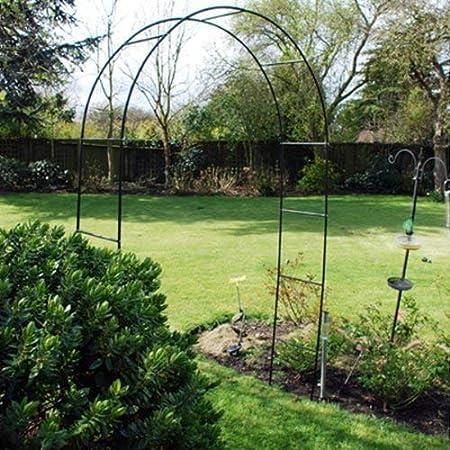 Metal Acero Jardín Rosa Arch. 2.4m Alto. Trepadora Plantas Rosas Runner Beans