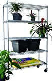 Trinity Epoxy Coated 5-Tier NSF Heavy-Duty Adjustable Outdoor Wire Shelving Storage Rack