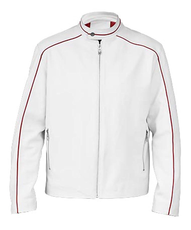 Angel Cool White Bomber Faux Jacket for Men