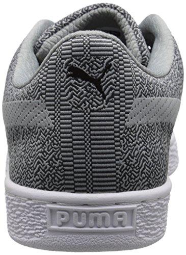 PUMA Mens Basket Classic Woven Fashion Sneaker Dark Shadow/Limestone uM2URf