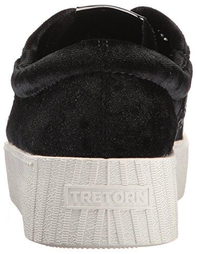 Sneaker In Nylite4bold Donna Tretorn Nero Velluto Schiacciato