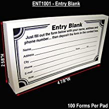 Blank Contest Entry Forms, 100 Sheets Per Pad (Pack of 25)