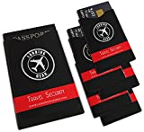 RFID Blocking Sleeves Protection From Identity Theft (5 x Credit Card & 1 x Passport Sleeve)