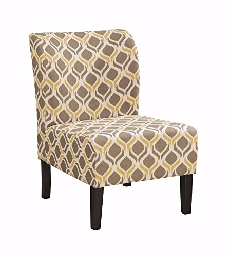Signature Design by Ashley - Honnally Accent Chair - Contemporary Style - Gunmetal (Club Chairs French)