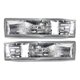 Driver and Passenger Park Signal Side Marker Lights Lamps Lenses Replacement for Chevrolet GMC Van 16523211 16523212