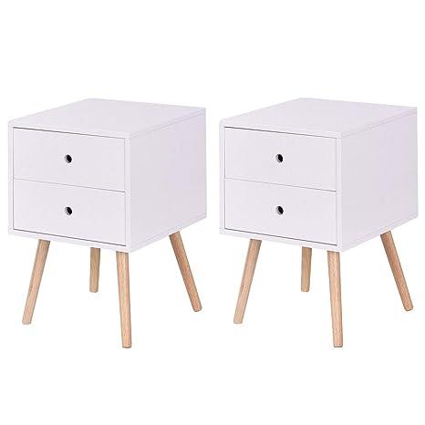Amazon.com: Giantex - Mesita de noche con cajones y mueble ...