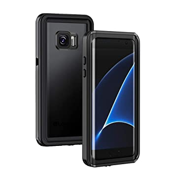 Lanhiem Funda Impermeable Samsung Galaxy S7 Edge,Carcasa Resistente Al Agua IP68 Certificado [Protección de 360 Grados],Carcasa para Galaxy S7 Edge ...