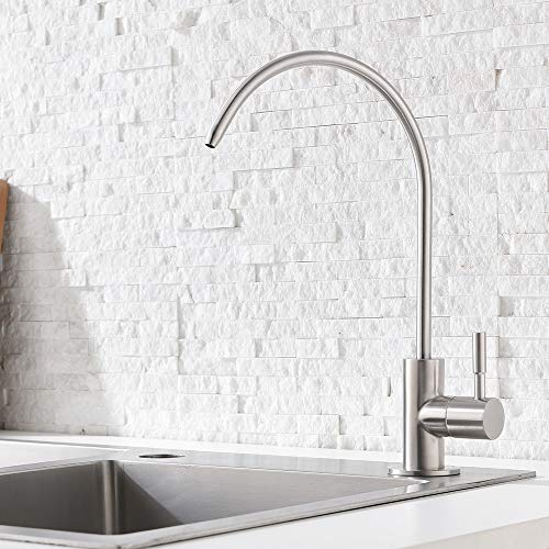 Ufaucet Modern Best Stainless Steel Brushed Nickel Kitchen Bar Sink Drinking Water Purifier Faucet, Commercial Water Filtration Faucet by Ufaucet (Image #1)