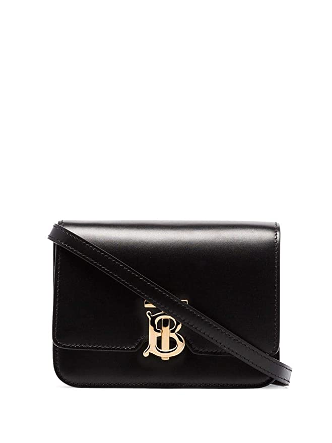SHOULDER BAG BURBERRY, LEATHER 100%, color BLACK, Measurements 15x11x6cm, Shoulder Strap 52cm