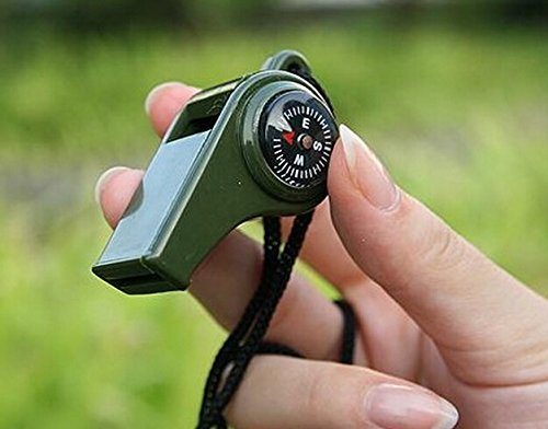 Domire Whistle with Compass, Thermometer & Lanyard