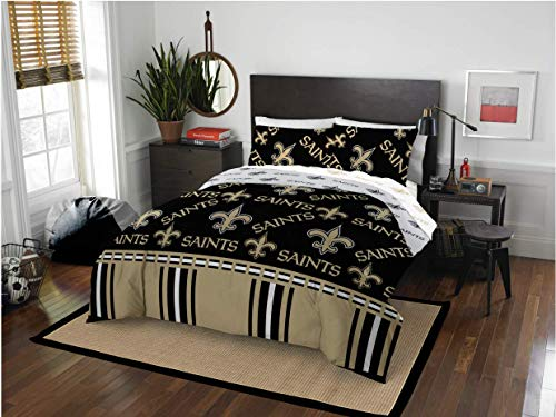 New Orleans Saints Queen Comforter & Sheets, 5 Piece NFL Bedding, New! + Homemade Wax Melts