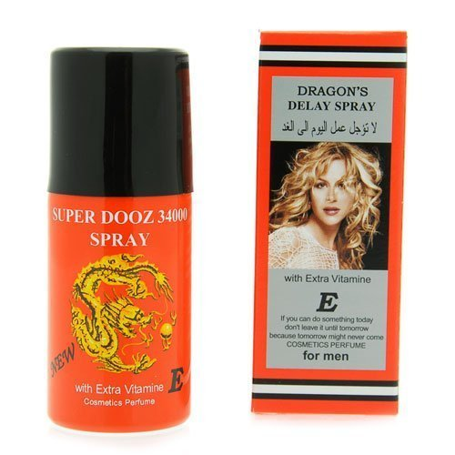 2 LOT X Super Dooz Dragon 44000 Delay Spray for Men with Extra Vitamin E - Expedited International Delivery -