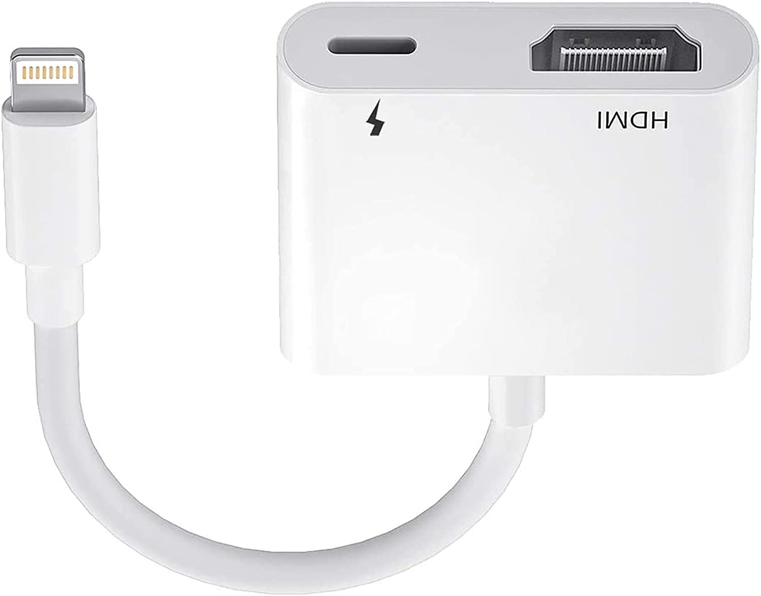 [Apple MFi Certified] HDMI to Lightning Digital AV Adapter,1080P Lightning to HDMI Video & Audio Sync Screen Converter with Charging Port for iPhone iPad to HD TV/Projector/Monitor Support All iOS