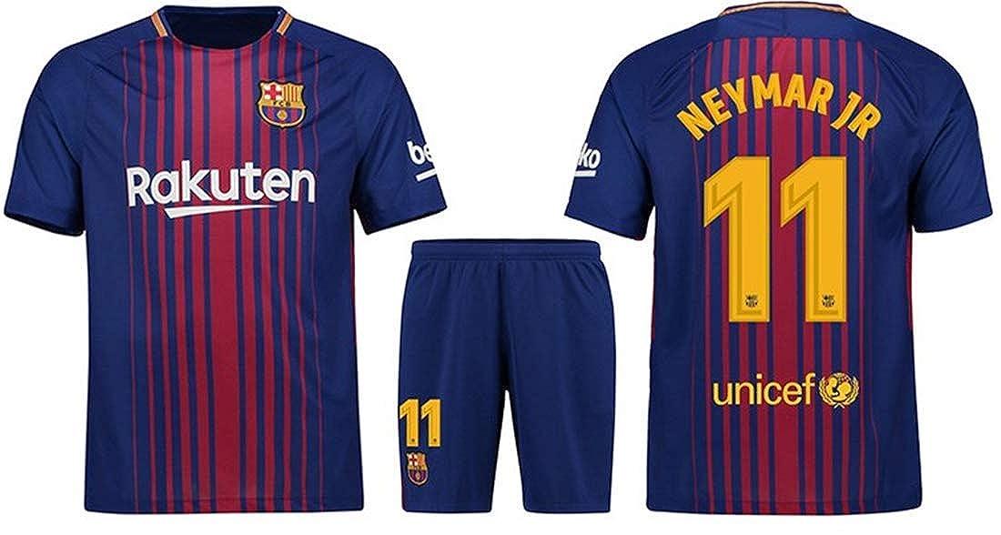 quality design e3bc2 dc0cf LISIMKE 2018/19 New Barcelona Neymar JR 11 Home Men's Soccer Jersey Kid  Youth Replica Jersey Kit : Jersey & Shorts & Socks
