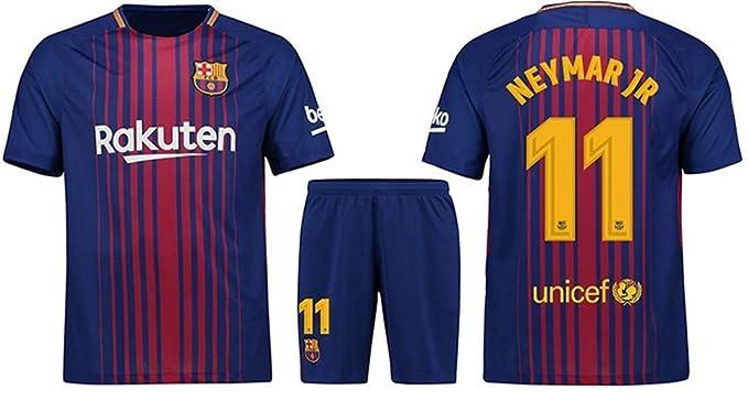 f45dbcae4 LISIMKE Soccer Team 2018 19 Barcelona Neymar JR  11 Kid Youth Replica  Jersey Kit