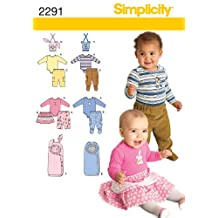Simplicity Sewing Pattern 2291 Babies' Separates, A (XX-Small - X-Small - Small - Medium - Large)