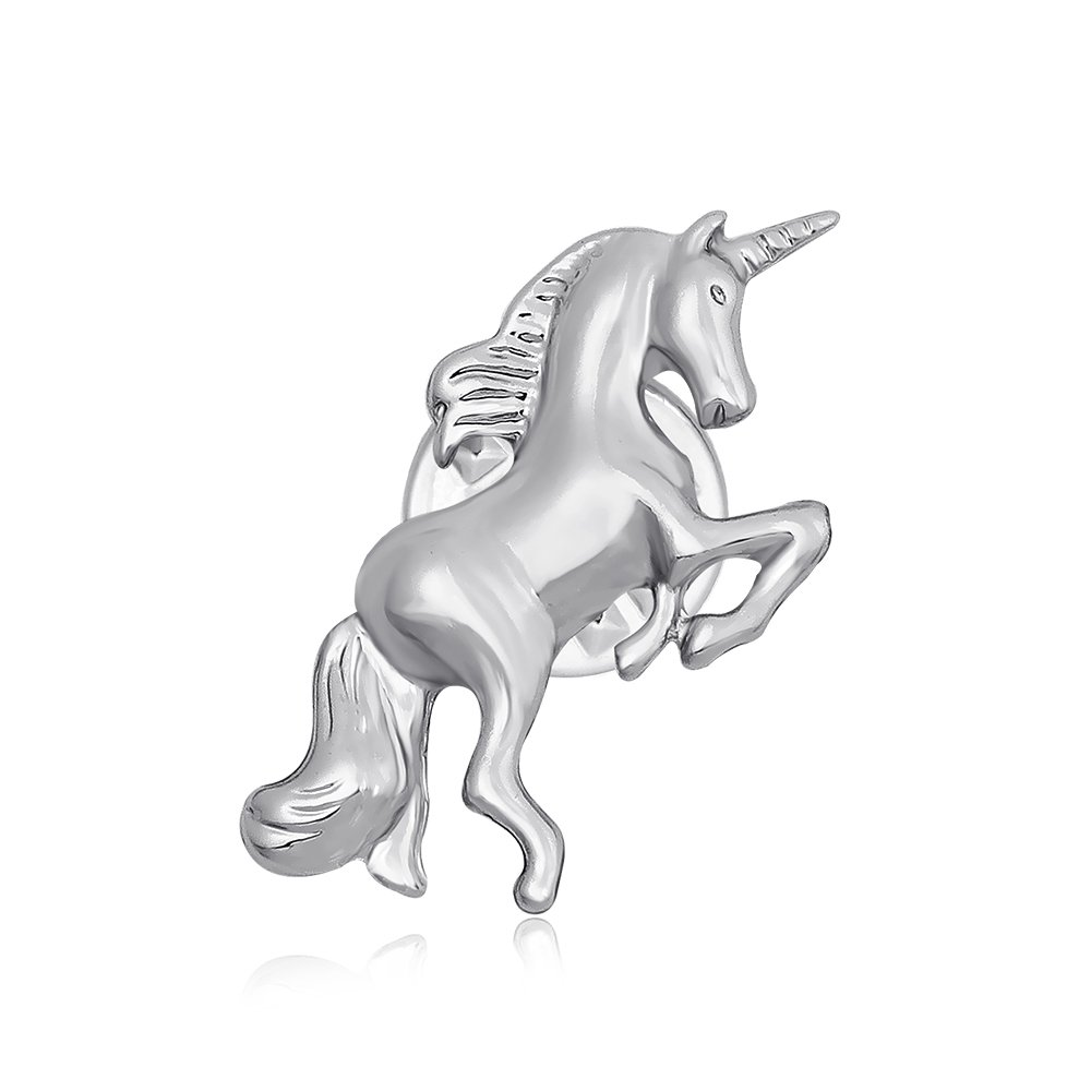 TUSHUO Simple Dainty Unicorn Brooch Pin Unicorn Tie Pin Best Unicorn Jewelry for Anyone (Silver)