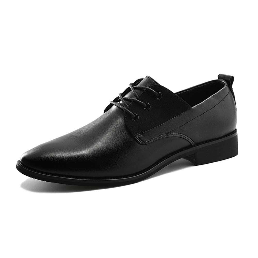 Gobling Mens Oxfords Retro Leather Formal Dress Shoes Modern Pointed-Toe Lace up Casual Shoes