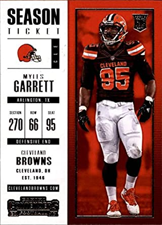2017 Panini Contenders  44 Myles Garrett RC Rookie Cleveland Browns b85dfb2e1