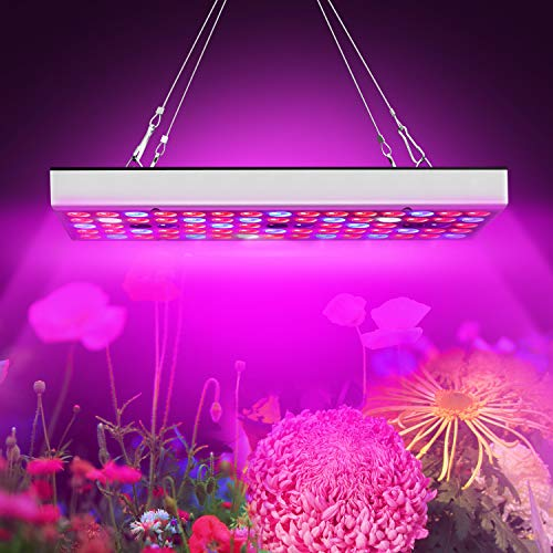 LED Grow Light, 25W Grow Lamp Kit with Full Spectrum High Efficiency LED Chips UV IR Red Blue Flowering Growing Light for Indoor Hydroponic Greenhouse Vegetable Veg (25W)