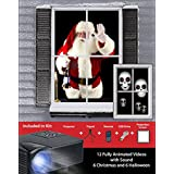 Mr. Christmas Virtual Holiday Projector Kit, Black