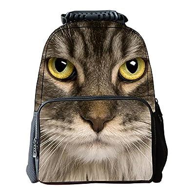 outlet Kids School Bags Animal Printed Backpack, CAT Printed School Backpack, Laptop Backpack, Xmas Gift Christmas Present for Teen Boy Girls Kids Children - Cat