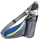 Waist Bag, WATERFLY Daypack Chest Belt Pouch Fanny Pack Multipurpose with Water Bottle Holder for Outdoor Sports Hiking Running Cycling Camping Climbing Travel
